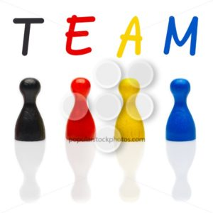 Concept team, teamwork, organization primary color black leader - Popular Stock Photos