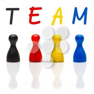 Concept team, teamwork, organization primary color black leader - Popular Stock Photos