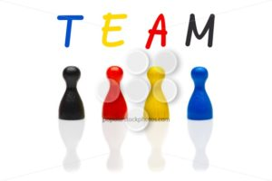 Concept team, teamwork, organization primary color black shuffle - Popular Stock Photos