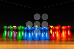Concept teamwork, organization, group multi color - Popular Stock Photos