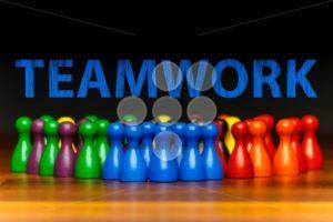 Concept teamwork, organization, group multi color text - Popular Stock Photos