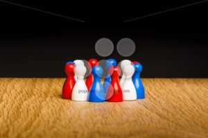 Concept teamwork red white blue - Popular Stock Photos