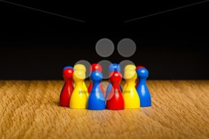 Concept teamwork red yellow blue - Popular Stock Photos