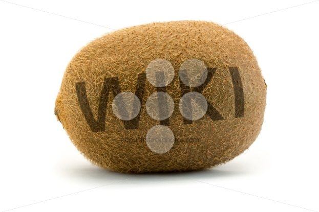 Concept wiki on kiwi Encyclopedia wikipedia burnt – Popular Stock Photos