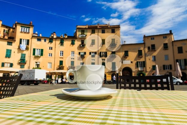 Cup of coffee italian terrace - Popular Stock Photos