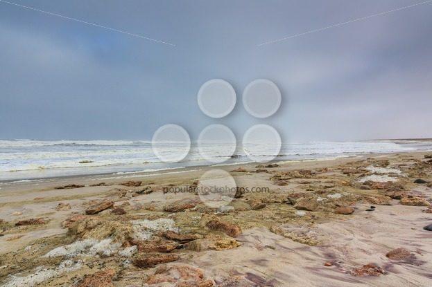 Dark sky beach skeleton coast Namibia – Popular Stock Photos