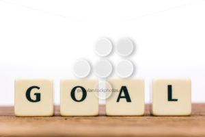 Dice letters word goal oak - Popular Stock Photos