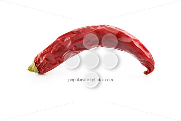 Dried red hot chili pepper studio side – Popular Stock Photos