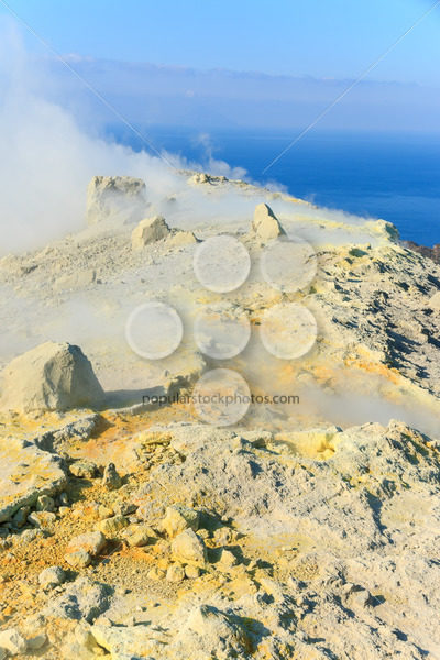 Edge volcano on Vulcano island Sicily – Popular Stock Photos