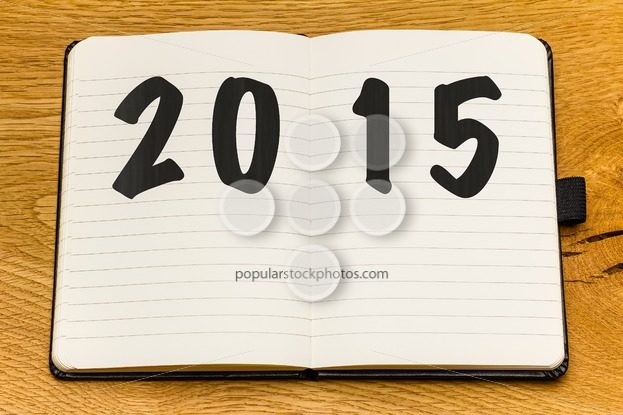 Empty pages notebook new year – Popular Stock Photos