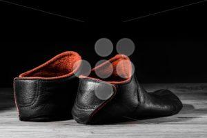 Empty slipper shoe home special light. - Popular Stock Photos