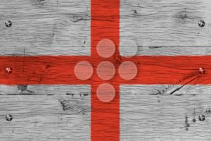 England flag painted old oak wood fastened - Popular Stock Photos