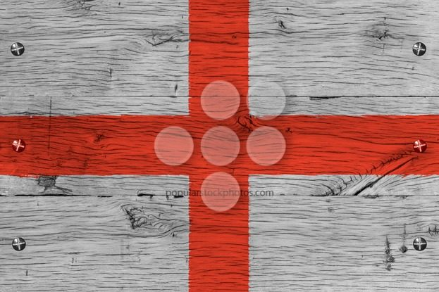 England flag painted old oak wood fastened – Popular Stock Photos