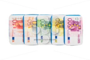 Fake euro banknotes chocolate - Popular Stock Photos