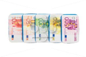 Fake euro banknotes chocolate - Popular Stock Photos