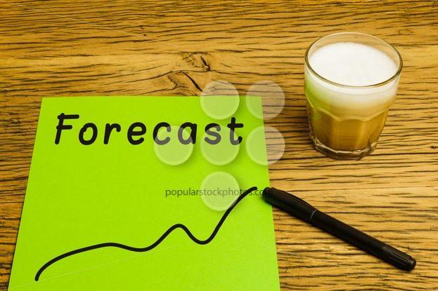 Forecast graph green paper – Popular Stock Photos