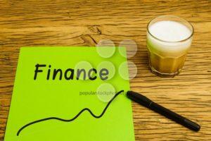 Forecast graph green paper - Popular Stock Photos
