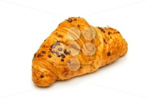 French chocolate croissant close up isolated - Popular Stock Photos