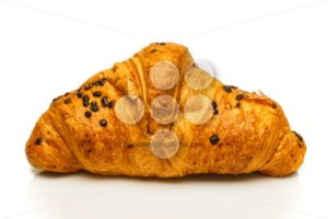 French chocolate croissant isolated - Popular Stock Photos