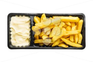 French fries with mayonnaise - Popular Stock Photos