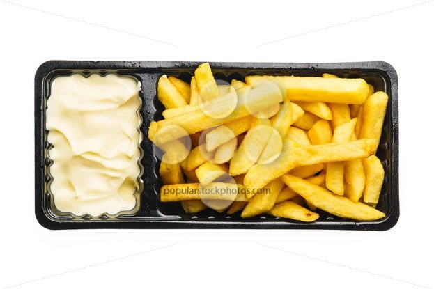French fries with mayonnaise – Popular Stock Photos