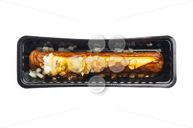 Frikandel special fast food container – Popular Stock Photos