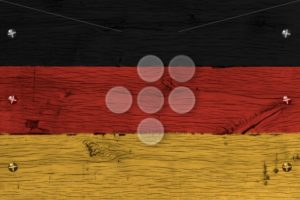 Germany national flag painted old oak wood fastened - Popular Stock Photos