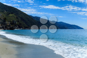 Gravel beach near Cinque Terre Italy - Popular Stock Photos