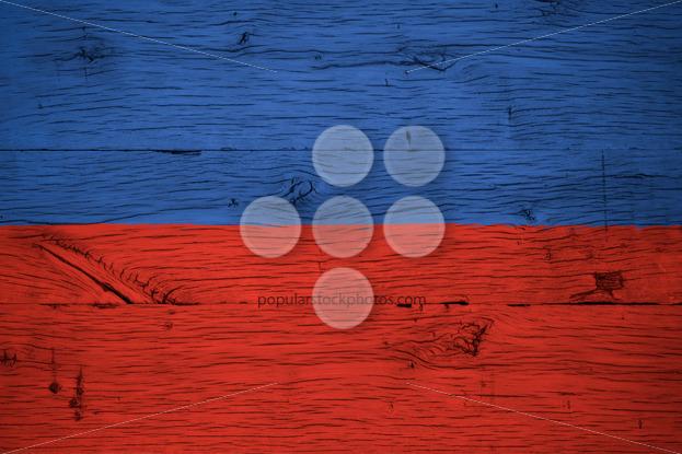 Haiti national flag painted old oak wood - Popular Stock Photos