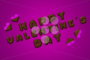 Happy valentine's day letters chocolate pink - Popular Stock Photos