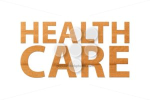 Healthcare text band aid isolated white - Popular Stock Photos