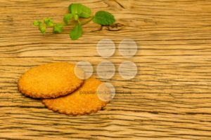 Healthy tasty cookies wood decoration - Popular Stock Photos