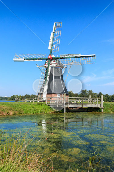 Historic windmill De Helper in Groningen, The Netherlands – Popular Stock Photos