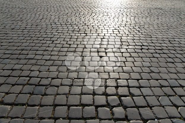 Huge square old cobbled stones - Popular Stock Photos