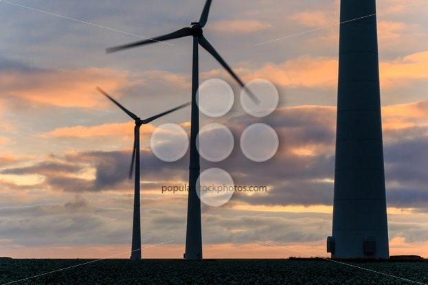 Huge windmill in motion at sunset – Popular Stock Photos