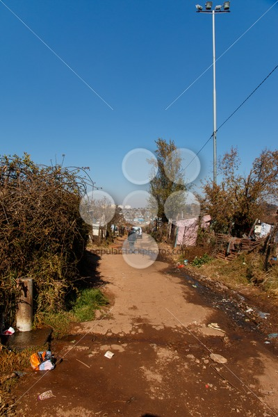 JOHANNESBURG, SOUTH AFRICA – JUNE 22,, 2014: Water tap point on street of township soweto – Popular Stock Photos