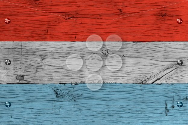 Luxembourg national flag painted old oak wood fastened – Popular Stock Photos
