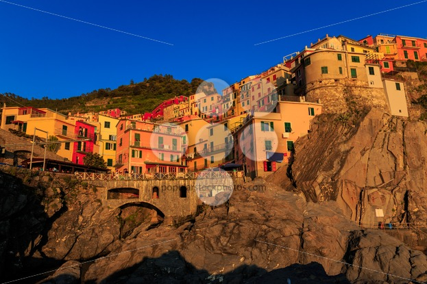 Manarola Cinque Terre Italy at sunset - Popular Stock Photos