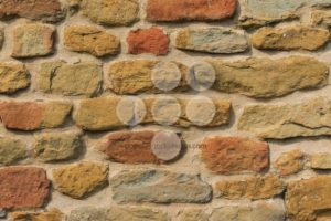 Medieval brick wall close up - Popular Stock Photos