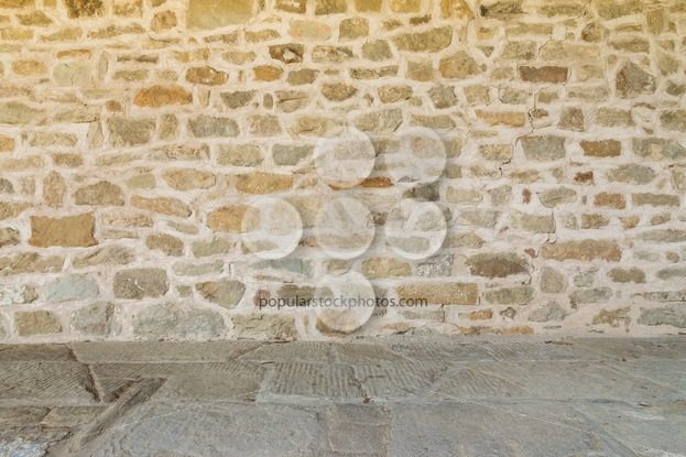 Medieval wall and floor monastery Italy - Popular Stock Photos