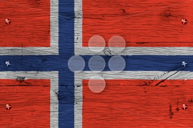 Norway national flag painted old oak wood fastened – Popular Stock Photos