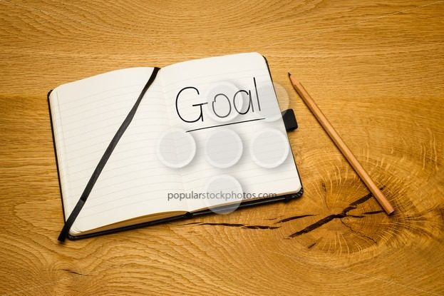 Notebook desk text goal pencil – Popular Stock Photos