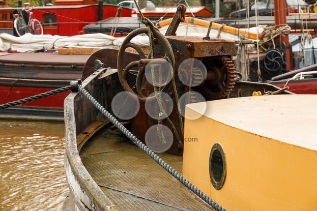 Old boat equipment fore deck – Popular Stock Photos