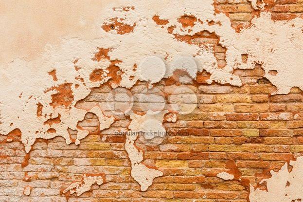 Old brick wall broken plaster – Popular Stock Photos