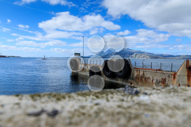 Old ferry dock in fjord in Norway, Europe – Popular Stock Photos