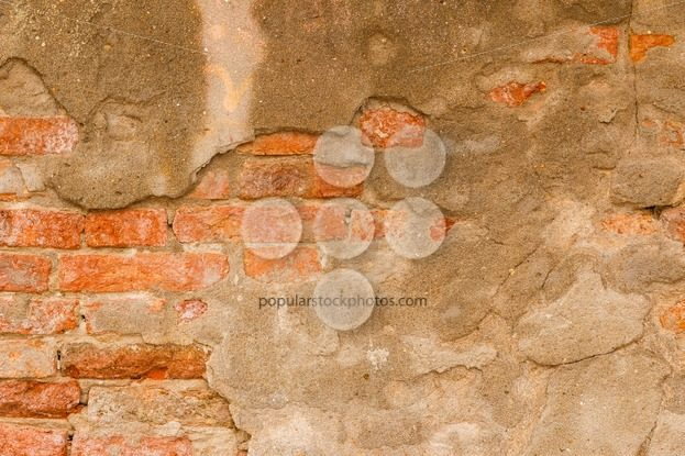 Orange brick wall with cement – Popular Stock Photos