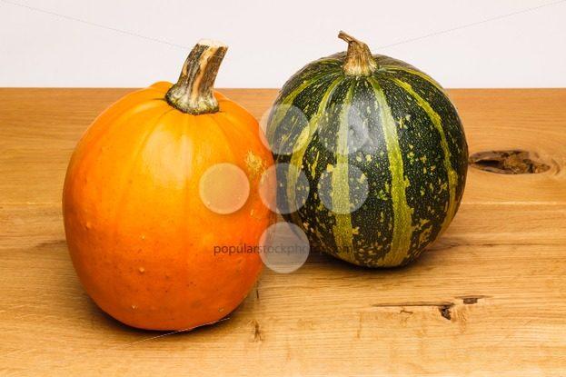Orange green calabash oak surface – Popular Stock Photos
