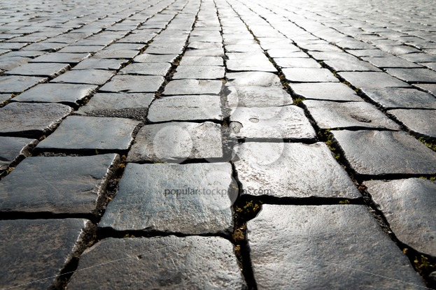 Pattern historic cobbled street - Popular Stock Photos