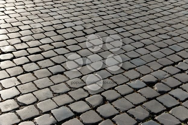 Pattern old cobbled stone square - Popular Stock Photos