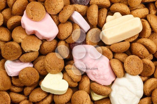 Pattern pepernoten and sweets Sinterklaas – Popular Stock Photos